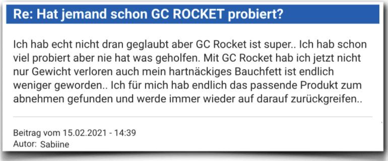 GC Rocket Erfahrungsbericht Bewertung Kritik Erfahrungen
