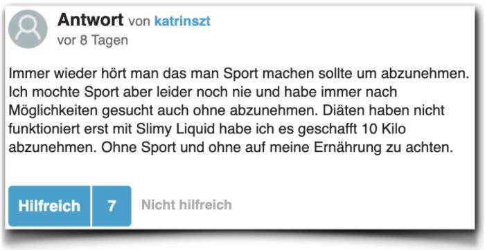 Slimy Liquid Bewertungen Erfahrungen gutefrage