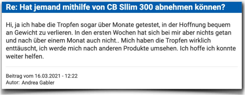 CB Slim 300 Erfahrungsbericht Bewertung Kritik Erfahrungen