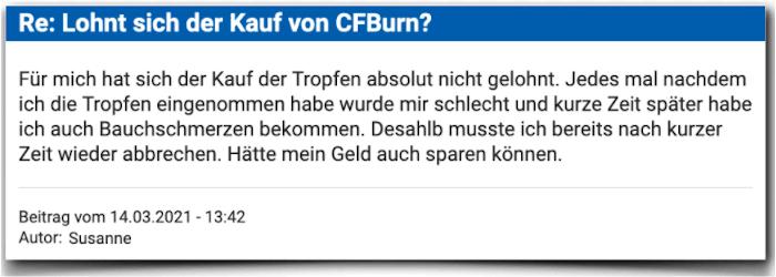 CFBurn Erfahrungsbericht Bewertung Kritik Erfahrungen
