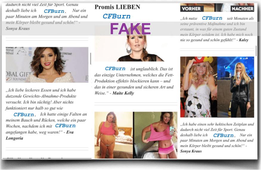 CFBurn Fake Promi Berichte