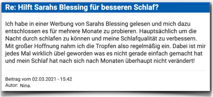 Sarahs Blessing Erfahrungsbericht Bewertung Kritik Erfahrungen