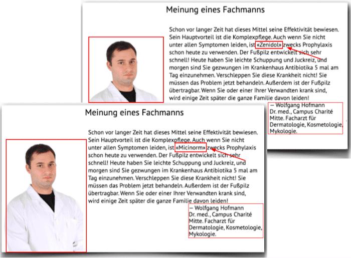 Zenidol Fake Arztberichte