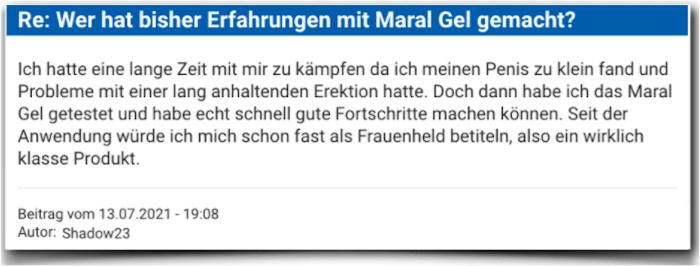 Maral Gel Erfahrungsbericht Bewertung Kritik Erfahrungen