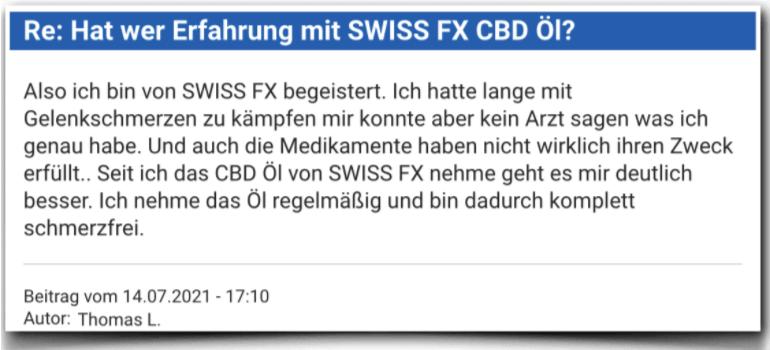 SWISS FX CBD Erfahrung Erfahrungen Erfahrungsbericht