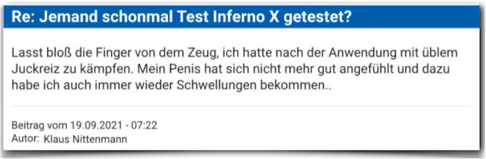 Test Inferno X Erfahrungsbericht Bewertung Kritik Erfahrungen